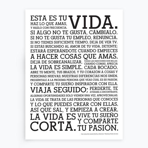 Holstee manifesto (Spanish)