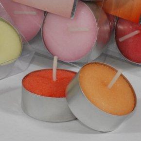 Velas perfumadas aroma rosa ( 6 uds)