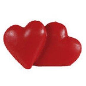 Vela corazones rojos