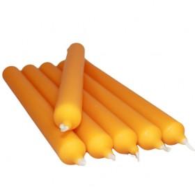 Vela color naranja