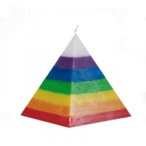 Vela pirámide 7 colores