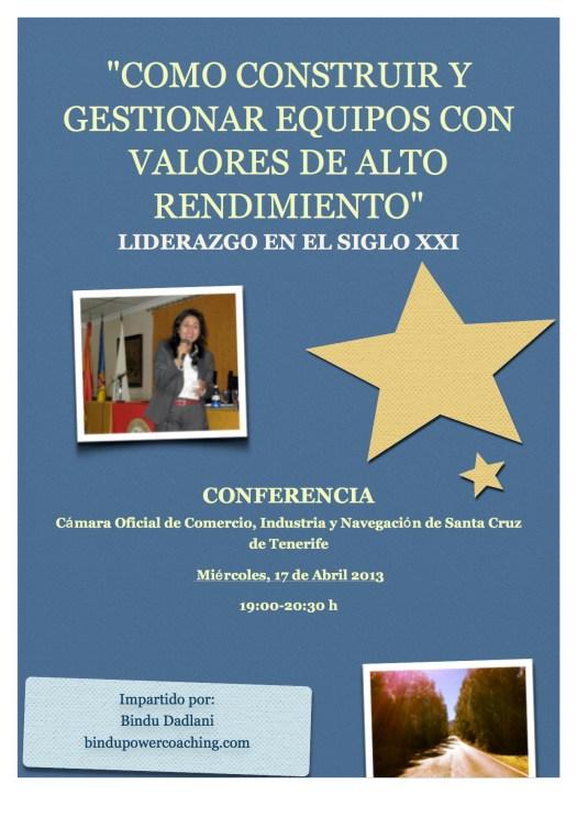 Cartel 17 Abril 2013 Cámara Tenerife