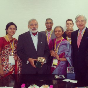 Bindu Dadlani Bindu Power Coaching meets PM Narendra Modi at 2011 Global Investors Summit