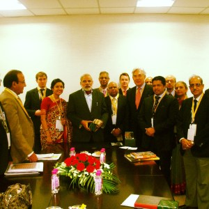 Bindu Power Coaching with PM Narendra Modi in 2011 Investors Summit