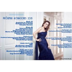 Raquel Lojendio Soprano Próximas Actuaciones 2015