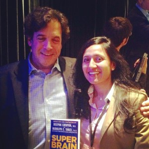 """New York Times Bestseller, """"Super Brain"""" with Dr. Deepak Chopra. Dr. Tanzi also hosts the nationwide public television special, """"Super Brain with Dr. Rudolph Tanzi"""" that explores new discoveries in neuroscience to maximize the potential of the human brain in practical and actionable ways."""