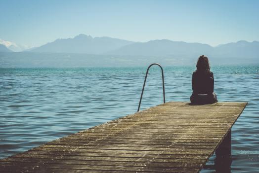 La depresión, caminar por un sendero