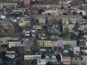 View from Bunker Hill Monument, Charlestown, Boston