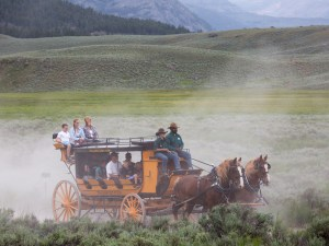 Stagecoach ride at Roosevelt Lodge in Yellowstone