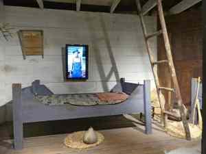 A slave cabin exhibit at Columbus Museum