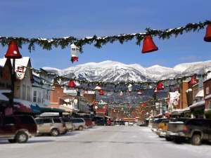 Downtown Whitefish below Big Mountain