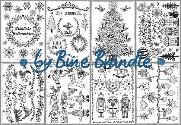 vorlagenmappe fröhliche weihnachten - bine brändle