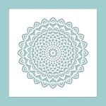 Schablone Mandala 8 - Stempel & Schablonen