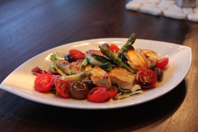 Salat mit Hühnerbruststreifen1