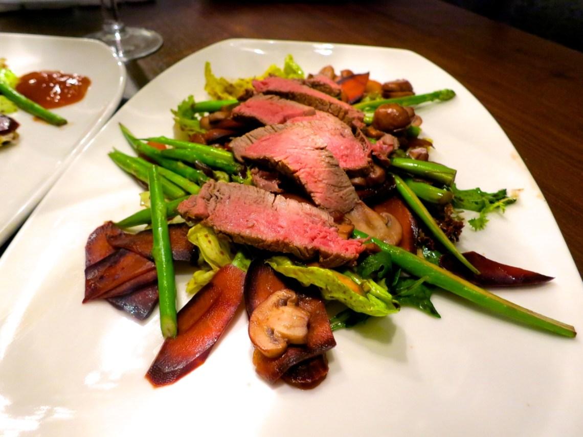 Steaksalat Asia Style
