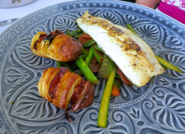 Steak und Fisch auf Wokgemüse – 5