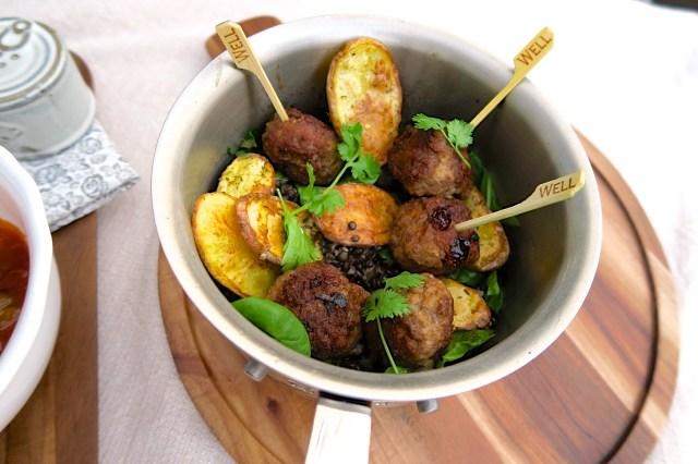 Garammasala-Fleischbällchen mit Balsamicolinsen – 28