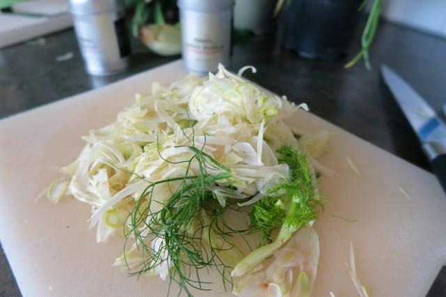 Hühnerbrust mit Fenchelsalat und Orangendressing – 03
