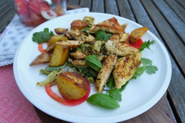 Hühnerbrust mit Fenchelsalat und Orangendressing – 12