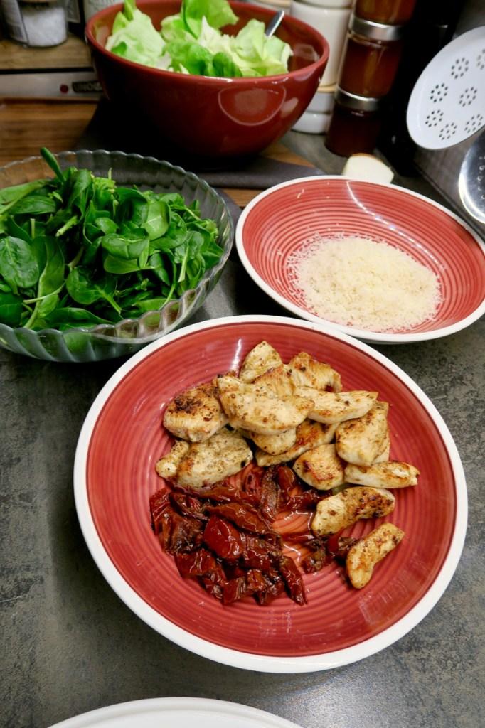 Huhn in Parmesansauce