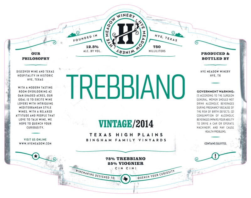 Hye Meadow Winery 2014 Trebbiano