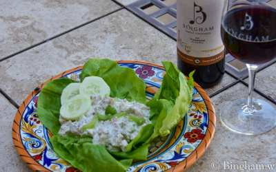 Cucumber Dill Rotisserie Chicken Salad paired with 2018 Turnrow