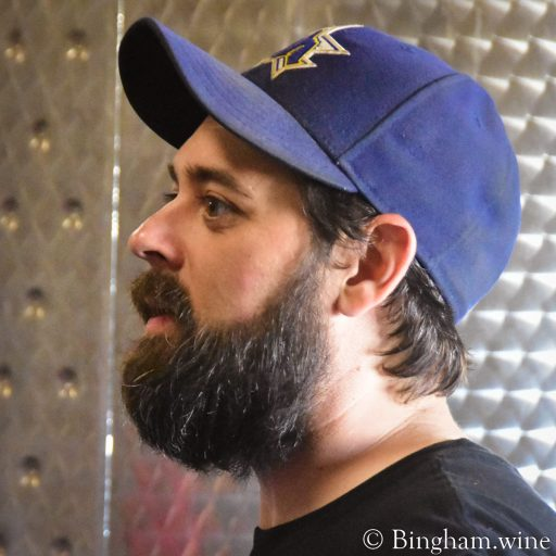 Sam Jennings, winemaker at Bingham Family Vineyards in Meadow, Texas.