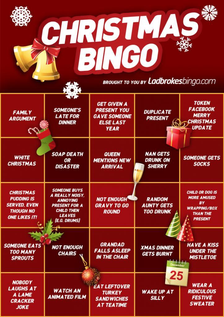 Holiday Christmas Bingo Templates
