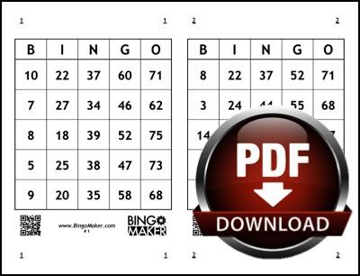 Free Printable Bingo Cards Bingo Card Generator