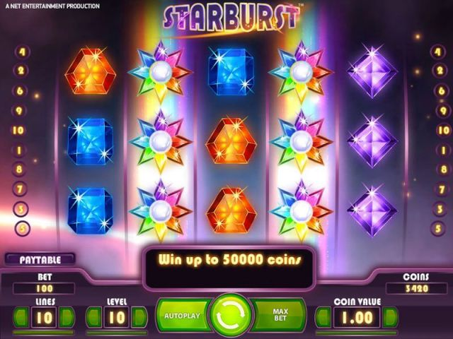 Starburst is probably the most popular nline slot game in the world