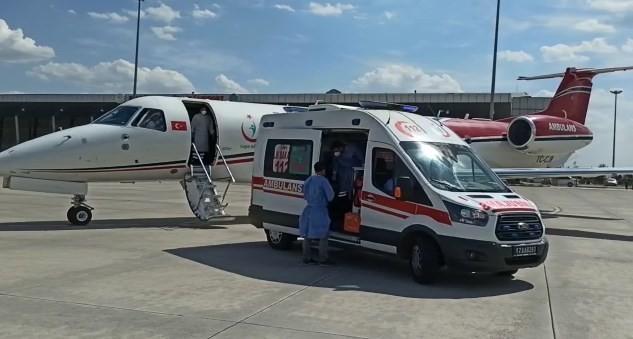 Ambulans uçak, down sendromlu Seyfullah için havalandı