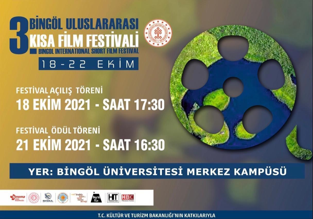 3. Bingöl Uluslararası Kısa Film Festivaline 5 ülkeden 245 film katılacak