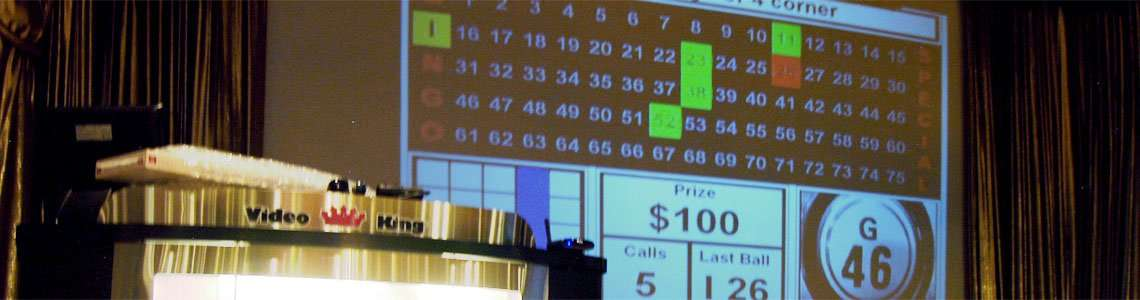 helpful bingo tips - bingo caller table and screen