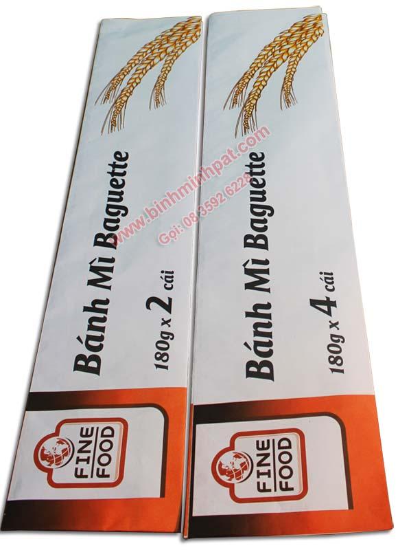 tui xach banh mi 02 Các mẫu bao bì, túi giấy đựng bánh mì cho khách hàng tham khảo