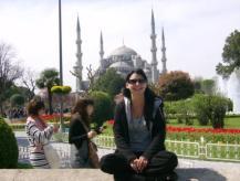 Istanbul- Ich vor der Blauen Moschee