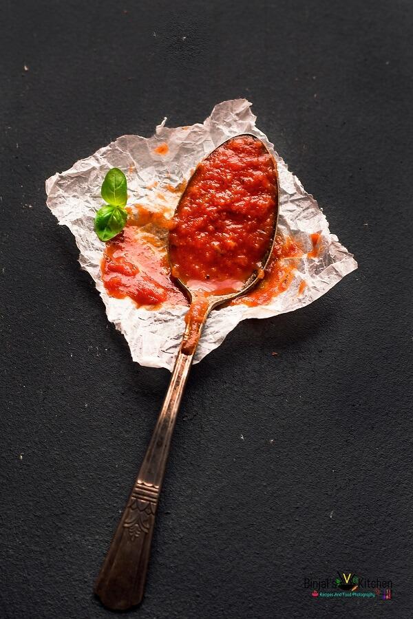 Homemade Classic Marinara Sauce Photography