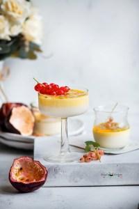 Coconut Passion Fruit Panna Cotta