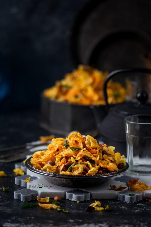 Cornflakes Chivda Recipe