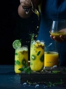 Pineapple Passion Fruit Mojito