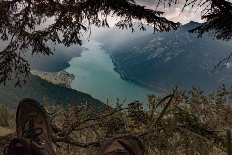 Ein traumhaftes Panorama kurz vor dem Bärenkopf am Achensee