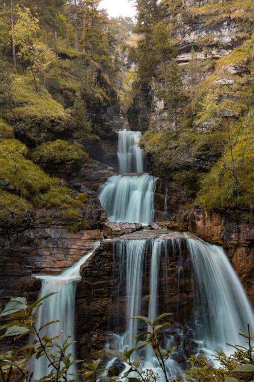 Die eindrucksvollen Kuhfluchtwasserfälle