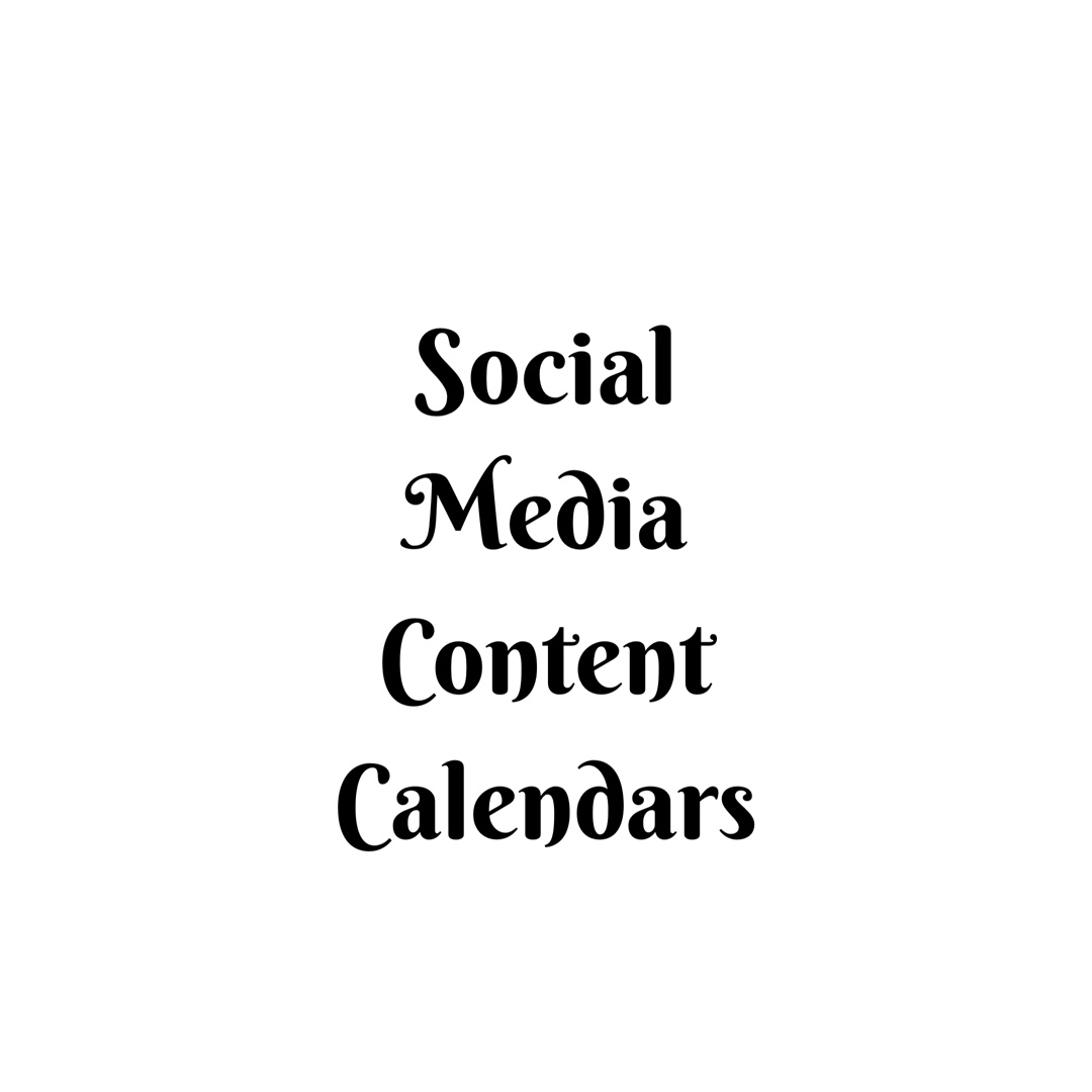 What is a Social Media Content Calendar and why should you have one?