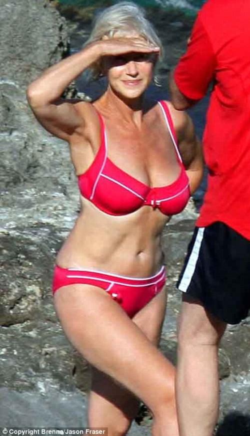 Helen Mirren in a bikini