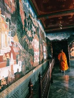A monk exploring the Royal Palace, Bangkok.