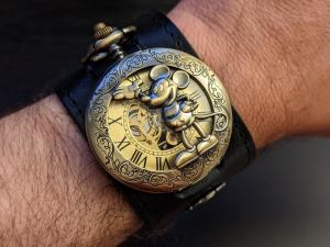 Micky Mouse Steampunk Skeleton Watch.