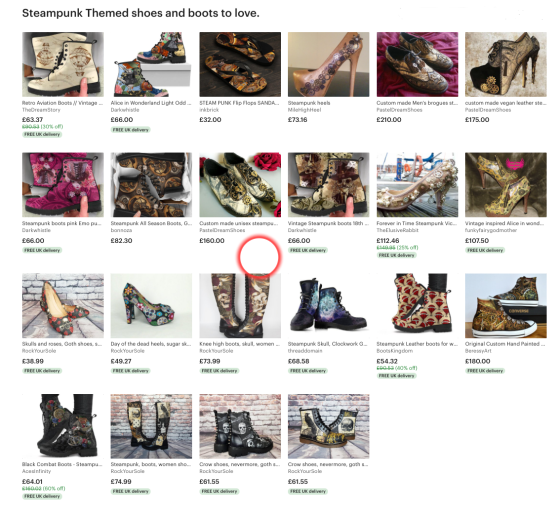 Steampunk Themed Shoes And Boots You Will Love.