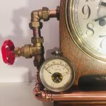 Industrial Steampunk Antique Victorian Mantel Clock.