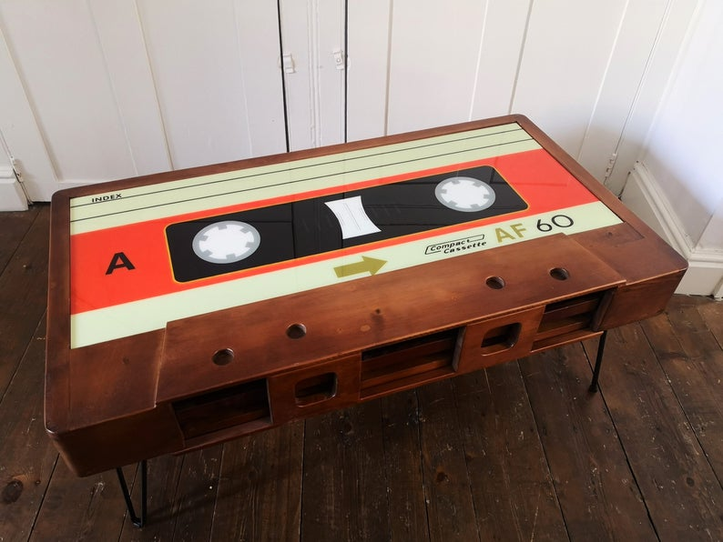 Cassette Coffee Table - Handmade from Solid Wood. Photo credited to Cambrewood. 1