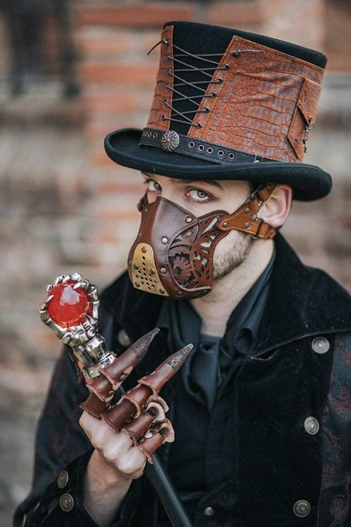 leather Steampunk Face mask. by propcom
