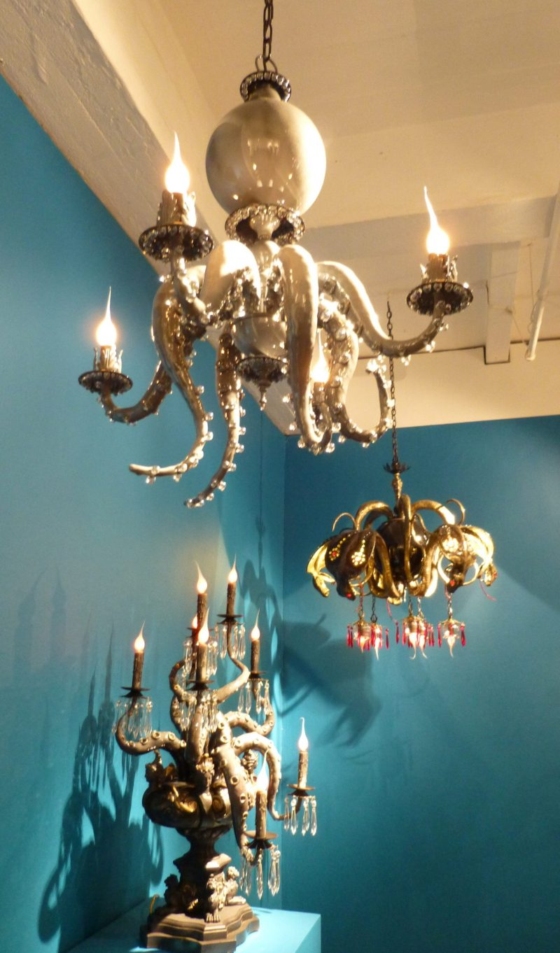 Octopus Chandelier by artist Adam Wallacavage. Image credited to Gail Worley of The Worley Gig.